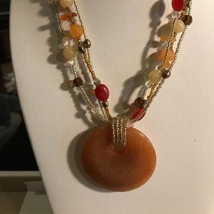 Pumpkin Spice lia sophia necklace